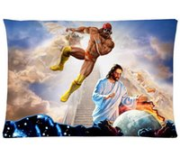 Wholesale Bedding Set Living Room Pillow Covers Macho Man Randy Savage Jesus Cotton Pillow cover x30 Inches