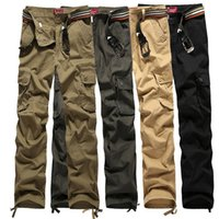 big size men pants - Mens Military Cargo Pants for Men More Pockets Zipper Trousers Outdoors Overalls Big Size Army Pants