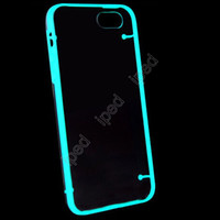 hard cover - Transparent Luminous Light Up Glow In The Dark TPU Hard Case Thin Cover Silicone Skin for iPhone quot Plus quot DHL