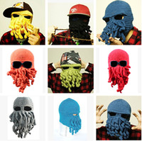 Wholesale Winter Beanies Caps Wool Knitting Cthulhu Ski Mask Octopus Hat Octopus Cap Funny Hat Christmas Fashion Adult Hat Tentacles H2