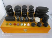 Wholesale Hot Stone Massage Kit Relax Body Hot Massage Stones Set One Box Stones for sale