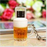 beer usb - 10pcs new wine glass USB flash drive GB GB GB GB GB GB GB beer glass cup drinking design USB flash memory stick Pen drive