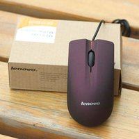 Wholesale Lenovo M20 USB Optical Mouse Mini D Wired Gaming Manufacturer Mice For Computer Laptop Notebook With Retail Box Black Purple Color