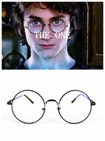 potter - Vintage Harry potter glasses Round Eyeglass Frames halloween costumes harry potter plain mirror glasses Black Gold Silver Gun Grey in stock