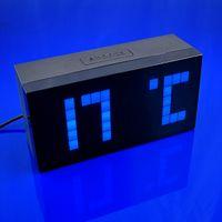big lots desk - 6pcs Digital Big Jumbo Blue LED Alarm Snooze Wall Desk Calendar Weather Clock Gift QY