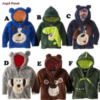 Wholesale hot sale children s clothing boys girls Dinosaur Hoodie Fleece cartoon dog kids sweaters jackets baby coats