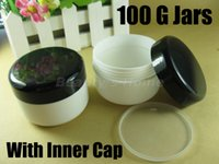 Wholesale 100 ml big size jars for cosmetic cream cosmetic jar with inner cap refillable bottle Empty Bottle