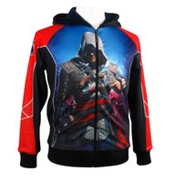 assassin s creed ezio hoodie - Winter Cool Men Game Assassin Creed Character Edward Kenway Ezio Hoodie Jacket Cosplay Cotume