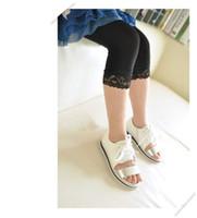 Wholesale FreeShipping HOT Big Sale In Stock Baby girl short lace leggings Candy color girls velvet short legging For