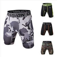 Men basketball shorts - Men Camouflage Compression Shorts Men Running Soccer Basketball Training Cycling Tights Men Sports Gym Shorts