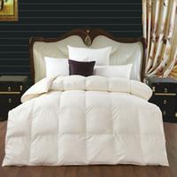 Wholesale Winter amp Autumn Pure Duck Down Quilt Comforter Blanket Duvet Insert King Queen Full Twin Size White PinkColor