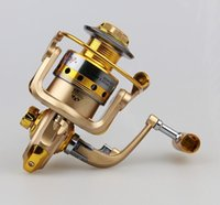 Cheap 10 BB Spool Aluminum Spinning Fishing Reel Pesca 5.5:1 Bait Casting HF1000-7000 Metal Front Drag Molinete Pesca Fishing Tackle HW3002