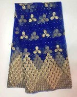 Wholesale high quality swiss voile laces switzerland african sequence with stones lace fabric yards piece Is350