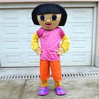 dora mascot - new style Dora Cartoon Mascot Costume Explorer school mascots character Men costumes for guys fast ship