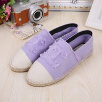 Wholesale 9 style women channel espadrilles us size canvas low design canvas shoe