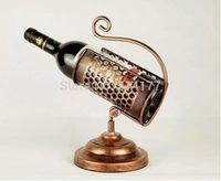 antique wine holder - Luxury European style antique brass wine holder Retro European Creative wine rack home decor Iron Wine bottle frame