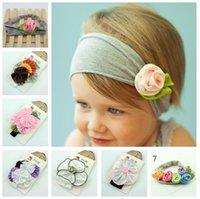 Bebê Meninas Meninos bonitos hairbands resilientes Acessórios de cabelo consideravelmente infantil Bandoletes Bebés Meninas Cabelo ornamentos Bebê da flor Headbands