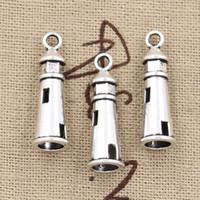 antique lighthouse - 100pcs Charms hollow lighthouse mm Antique Zinc alloy pendant fit Vintage Tibetan Silver DIY for bracelet necklace