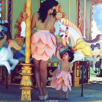 short front long back girls dress - 2015 Sale In Wedding Dresses With Flower Girl Dresses Cheap Short Mother Gowns Knee Length V Neck Sequins Beaded Sleeveless Wedding Dress