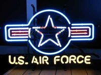 air force stores - USA AIR FORCE NEON SIGN HANDICRAFT CUSTOM REAL GLASS TUBE LIGHT SIGNS BAR BEER PUB STORE HUNG WALL