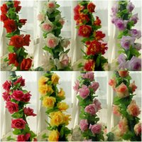 Wholesale New ft Artificial Silk Rose Flower Ivy Vine Leaf Garland Wedding Party Home Decor