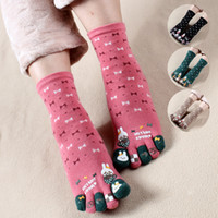 Wholesale Cute Toe Socks For Women - Wholesale-Cartoon women Toe Socks 6 Pair Casual Cotton Socks For women Brand Sport cute short Socks female