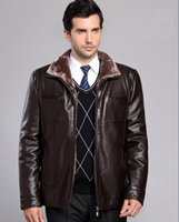 pelle pelle jackets - Fall Winter Thicken Leather Coat Men Casual Standing Collar Leather Coat Warm Jacket Coat Veste Cuir Homme Giacca Pelle Uomo