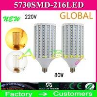 ceiling chandeliers - Surprise High Power W LED Lamp SMD E27 B22 E40 LEDs Corn Bulb Pendant Lighting AC V V Chandelier Ceiling Light