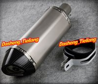 Wholesale Universal Carbon fiber Stainless Steel Slip On Exhaust Muffler Silencer End Can For Honda Yamaha Suzuki Kawasaki order lt no track