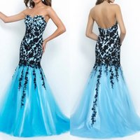 beautiful prom dresses - New Fashion Charming Tulle Prom Dresses With Mermaid Beautiful Applique Sweetheart Neck Backless Hot Sale Graduation Gown Party Evening