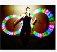 Wholesale 2015 Fitness LED poi Club led stick christmas gift Pixels poi small poi Bar LED poi full color LED nunchakus DIY programmable poi
