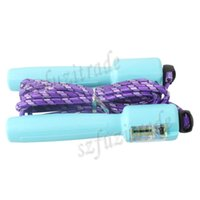 Wholesale Women Professional Crossfit Rope Calorie Counter Timer Jump Skipping Rope Candy Colors Jumping Ropes Corda Drop Shipping