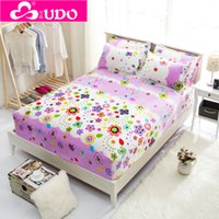 Wholesale You Duo Bedding colors High Quality Winter Warm Colored Flannel Fitted Bed Sheet Thickening of Coral Fleece Mattress Covers