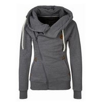 Wholesale New Arrival Thickening Fleeces Sweatshirts For Women Hooded Hoodies Candy Colors Solid Sweatshirt Long Sleeve Side Zip Up