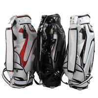 Wholesale 1PC Brand New Golf bags PU high quality black white red Mens golf bag EMS ship