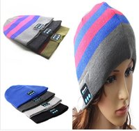 Wholesale Bluetooth Music Hat Soft Warm Beanie Cap with Stereo Headphone Headset Speaker Wireless Mic Hands DHL