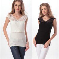 Wholesale LJJG24 Breast Feeding Tops Clothing Modal Nursing Vest Pregnant women render clothing Maternity lactation clothes