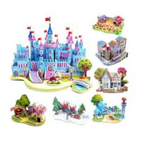 3d puzzles - S Hot Selling Puzzles Kids Educational Toys DIY D Jigsaw Puzzle For Children Adults House Castle