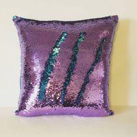 Wholesale Mermaid Sequin Jade Silver Pillow Sequins Pillow with Filler Reversible Pillow Mermaid Shimmer Pillow Sham Accent Pillow