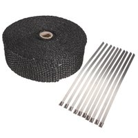 Wholesale 2 quot x5m Exhaust Pipe Header Heat Wrap Resistant Downpipe Stainless Steel Ties mx5cmx2mm A3
