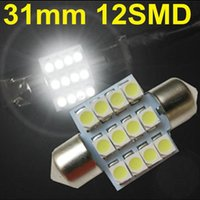 Wholesale 20x Bright White c5w mm Led DE3175 SMD V Festoon Interior Pathway Lighting Dome Reading Lights For Honda Mazda Subaru
