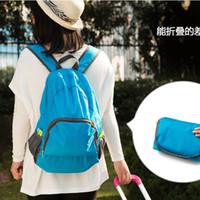 Wholesale outdoor travel portable bags folding lightweight waterproof backpack sports bag riding skin bag Storage backpack DHL EMS