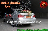 Cheap 2pcs   Car Mini romantic wedding small bubble machine wedding props, stage lighting, the best price