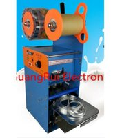 Wholesale New ET D9 V Plastic Cup Sealing Machine Milk tea sealing machine standard cup dia cm cm With counting function
