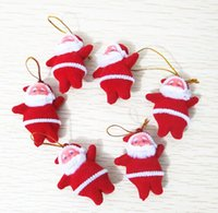 Wholesale Festival Party Supplies Christmas Decorations Ornament Santa Claus Father Christmas Small Pendants cm cm
