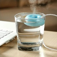 Wholesale 1 New Very Creative Mini Usb Donuts Humidifier Floats On The Water Great