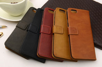 Wholesale Premium Wallet Flip Leather Case With Stand Photo Frame Card4 quot quot For Apple iPhone plus Cases For iphone4 s s Phone Bags Covers