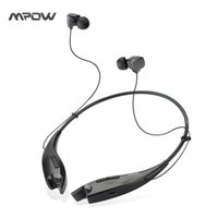 Wholesale MBH25 Mpow Jaws Wireless Bluetooth Stereo Headset Crystal Sound Light Necklace Neckband Handsfree Universal Headphones APT X