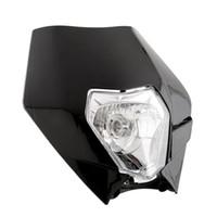 Wholesale Hot Universal Black W Headlight Fogllight Head Light for Sport Motorcycle Dirt Bikes Street Fighter