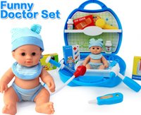 Wholesale Hot High quality play house toy Doctor Toys Kids Educational Pretend Doctor Case Classic Toy Set with a Doll